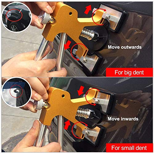 YOOHE Auto Paintless Dent Repair Kits - Adjustable Gold Dent Lifter Dent Repair Tool Kit,Pops a Dent puller Kit for Car Hail Damage Repair and Car Dent Removal