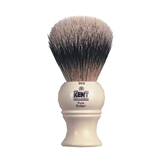 Kent BK8 Kent Shaving Brush Silver Tip Badger