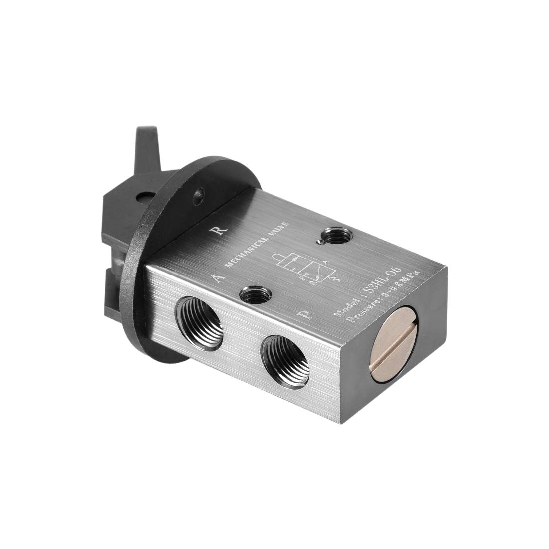uxcell 2 Position 3 Way 1//8 PT Manual Hand Pull Pneumatic Solenoid Mechanical Valve,S3HL-06