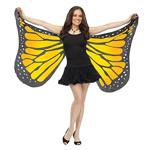 Fun World Women's Soft Butterfly Wings Adult Costume Accessory, orange Standard ()