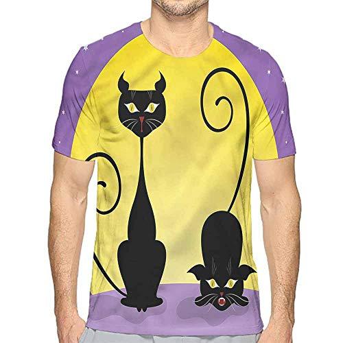 Full Moon Juniors T-shirt - t Shirt Printer Cat,Two Black Kitties Full Moon Junior t Shirt XXL