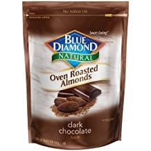 Blue Diamond, Naturals, Oven Roasted Dark Chocolate Almonds, 14oz Bag (Pack of 3) by Blue Diamond Almonds