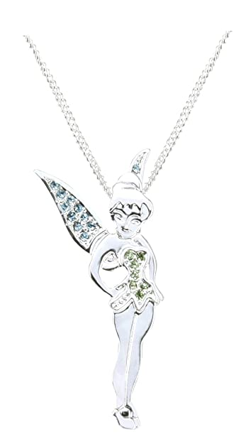 Disney silver tone crystal standing tinkerbell pendant necklace disney silver tone crystal standing tinkerbell pendant necklace aloadofball Images