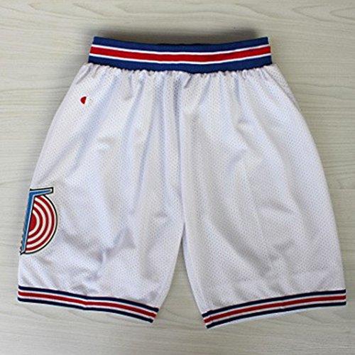 EDTara Basketball Squad Shorts Fashion Short Pants Retro Mesh Cool Shorts Casual Sports White M