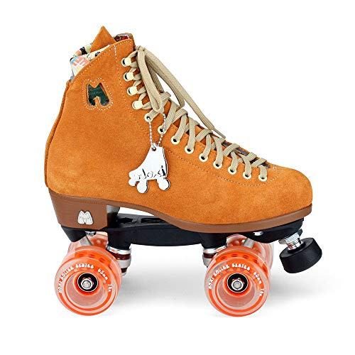 Moxi Skates - Lolly - Fashionable Womens Quad Roller Skate | Clementine Orange | Size 5 ()