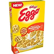 Kellogg's Eggo, Breakfast Cereal, Maple Flavored Homestyle Waffle, Good Source of 8 Vitamins and Minerals, 8.8oz Box