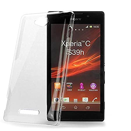 2010kharido Crystal Clear Transparent Hard Back Case Cover for Sony Xperia C C2305 Cases   Covers