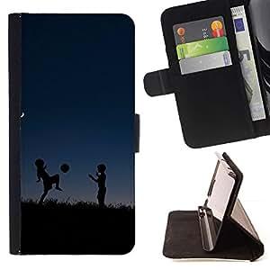 Momo Phone Case / Flip Funda de Cuero Case Cover - deti siluety myach noch igra - Sony Xperia Z1 L39