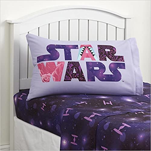 Star Wars Sheet Set Twin Size 3 Piece Microfiber Kids Bedding Set Fitted Sheet Flat