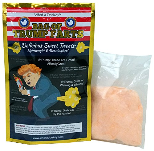 BAG OF TRUMP FARTS (Cotton Candy) Doubles as TRUMP HAIR! Funny Gag Gift for Friends, Mom, Dad, Birthday Boy, Girl! @Trump #REALLY FUNNY - Donald's Best Tweets, Fills Room with The Scent of LAUGHTER!