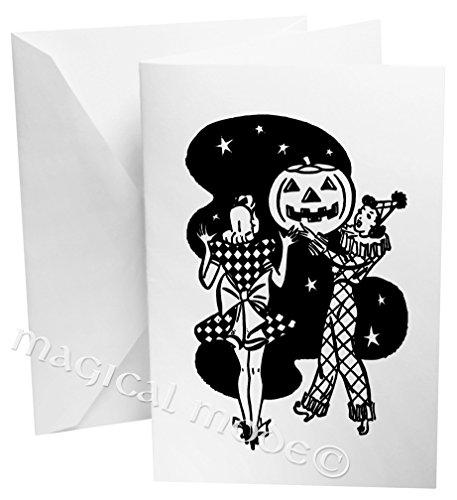 Retro Halloween Pumpkin Party Pin Up Girls Gift Box Set of 12 Note - Moda Pumpkin