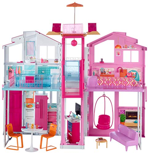 Barbie Pink Passport 3 Story Townhouse (Renewed)