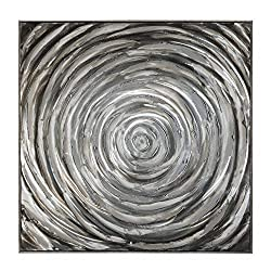 Ashley Furniture Signature Design - Adda Spiral Design Wall Art - Contemporary - Shades of Gray