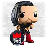 Funko Pop WWE NXT Shinsuke Nakamura Exclusive Limited Edition Vinyl Figure # 45 with Strong Style Pin in Protector Box