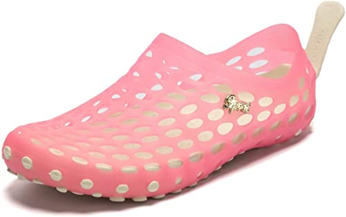 PAIRLERS Womens Soft Beach Sandals Pull-On Aerobic Water Shoes