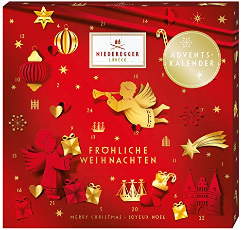 Niederegger Marzipan Mini Glamour Advent Calendar 168g / 6 Oz NEW