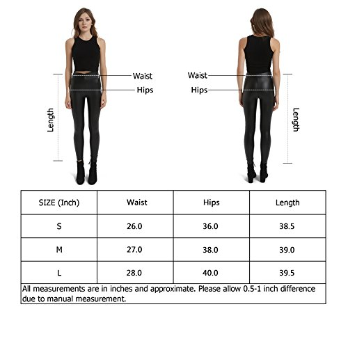 8da654c31 MCEDAR Women's Faux Leather Legging Pants Girls Black High Waist Sexy  Skinny Outfit for Causal,