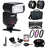 Professional 58MM Accessory Bundle: For Canon T6 T6i T5 T5i T7 T7i SL2 SL1 80D DSLR Cameras With Zoom TTL Flash Select Filters Wide Angle & Telephoto Lenses 32GB SD Card Camera Bag & More