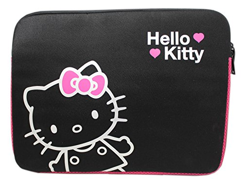 Sanrio's Hello Kitty Silver Character Outline Padded Laptop Case (15-17in)