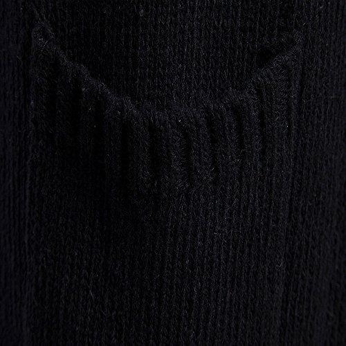 Lungo Cardigan Maglia Maglione Nero Slim Fit Trench Uomo Bhydry Giacca Moda Cappotto 4wAaq6Bx8