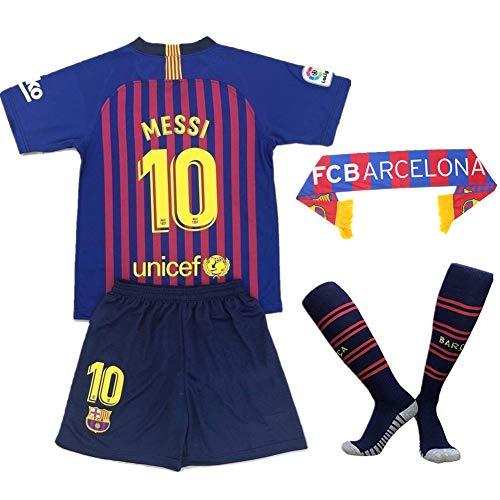 691f7f16e Cyllr Barcelona Home Kids/Youth 2018-2019 Season #10 Messi Socce Jersey  Matching Shorts,Socks.Scarf