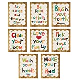 "Good Manners 5""x7"" Wall Cards in English - Set of 8, Nursery Art, Nursery Wall Art, Playroom, Kid's Art, Kid's Decor, Gender Neutral"