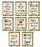 Good Manners 5x7 Wall Cards, Nursery Wall Decor, Gender Neutral Kid's Art, 5x7 Prints, Children's Wall Art, Nursery Art, Baby Shower Gift, Inspirational Artwork for Kids