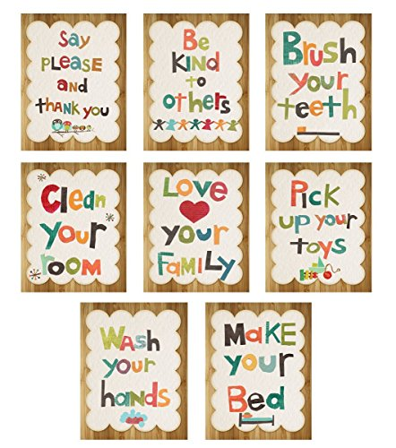 Manners Nursery Neutral Childrens Inspirational product image