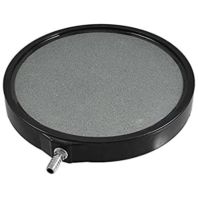 8 Inch Round Air Stone Bubbler Diffuser for Aquaponics • Aquaculture • Hydroponics • Ponds • Aquariums by Cz Garden Supply