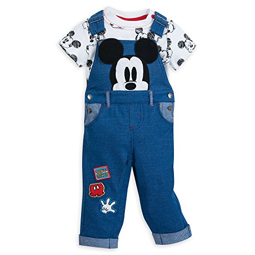 Dungarees 3 (Disney Mickey Mouse Dungaree Set for Baby Size 3-6 MO Multi)
