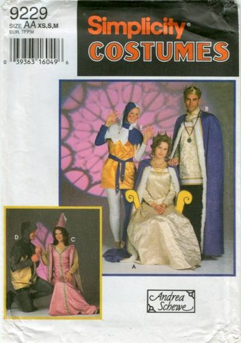 Simplicity Costumes and Andrea Schewe Pattern 9229: Misses',