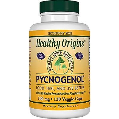 Healthy Origins Pycnogenol Veg Capsules, 100 mg, 120 Count