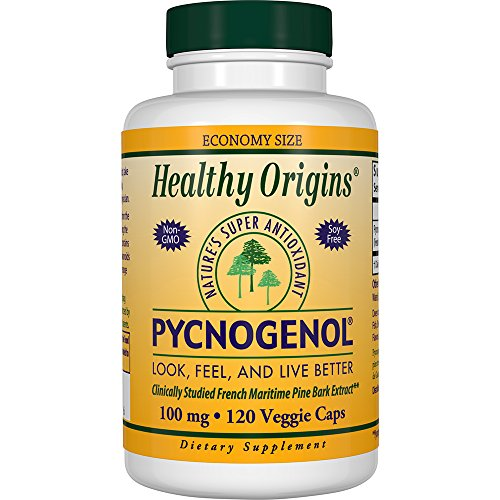 Healthy Origins Pycnogenol (Nature's Super Antioxidant)  100 mg, 120 Veggie Caps