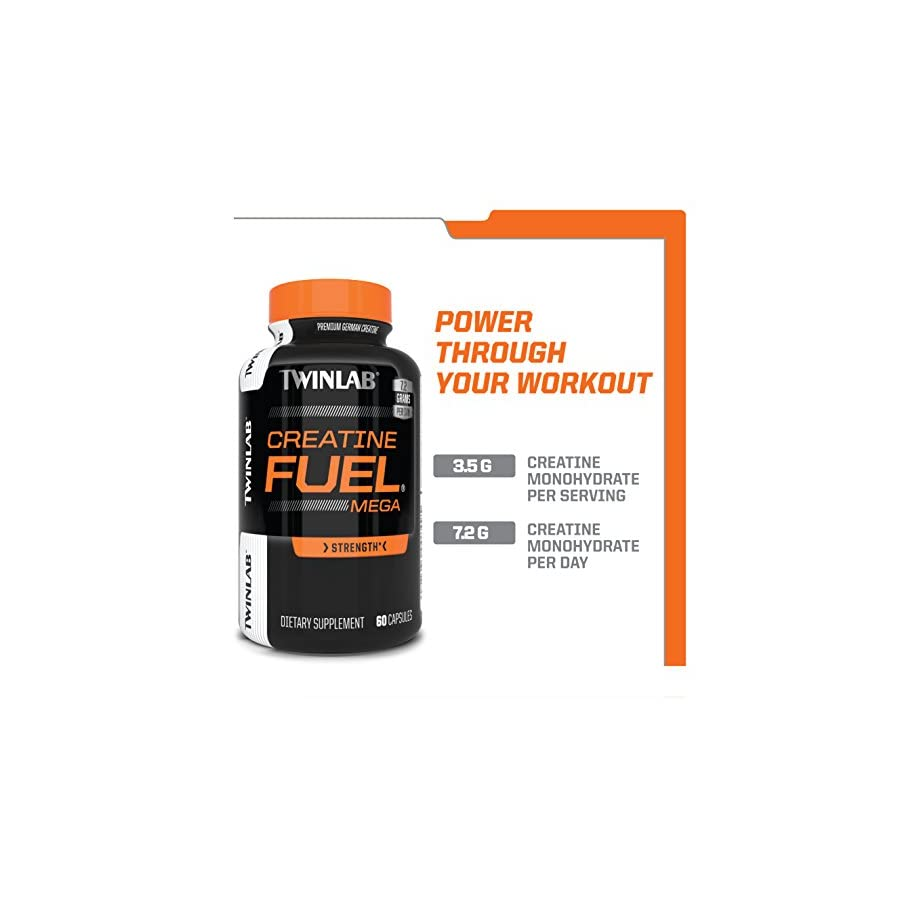 Twinlab Creatine Fuel Mega Performance Enhancer, Strength