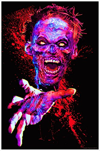 Zombie Touch Flocked Blacklight Poster - 23x35in