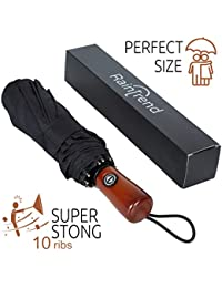 Collapsible Umbrella Windproof - Large Umbrella Travel - Compact Umbrella Automatic - Travel Umbrella Folding - Portable Umbrella Auto - Oversized Umbrella Black Rain Umbrella - Mens Umbrella Compact