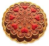 Zanda Panda 9 Inch Kaleidoscope Heart Mold, Bright Red