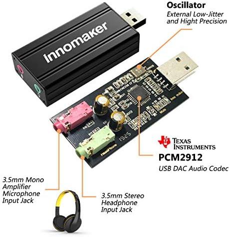 Amazon.com: InnoMaker PCM2912 - Tarjeta de sonido USB DAC ...