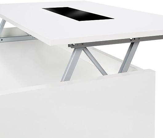 Habitdesign 0T1638BO - Mesa de Centro elevable Zenit Cristal ...