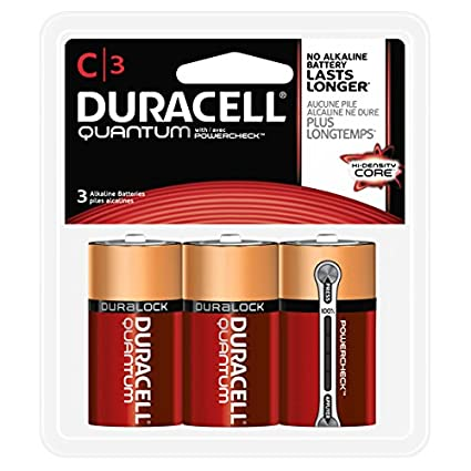 Amazon.com: Duracell - Quantum C Alkaline Batteries - long lasting, all-purpose C battery for household and business - 3 count: Industrial & Scientific