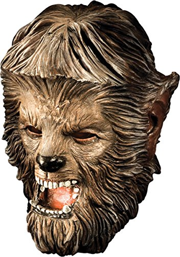 Morris Costumes Men's Wolfman Deluxe Latex Mask (Latex Deluxe Wolfman)
