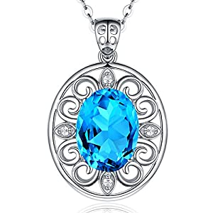 HXZZ Fine Jewelry Gifts for Women Natural Gemstone Pendant Necklace and Ring