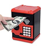APUPPY Cartoon Password Piggy Bank Cash Coin Can,Electronic Money Bank,Birthday Gifts Toy Gifts for Kids (Black)