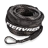 """Synthetic Winch Rope 3/16"""" x 50' - 8200 Ibs Winch Line Cable Rope with Protective Sleeve for 4WD Off Road Vehicle ATV UTV SUV Motorcycle, 1 Year Warranty"""