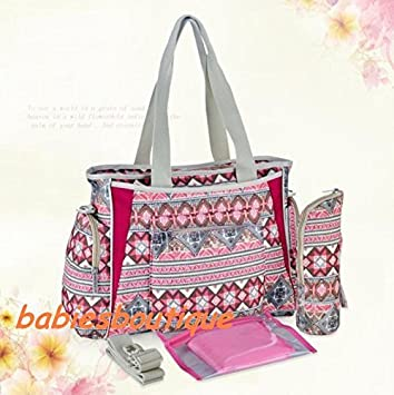 4e5932147bad8 Image Unavailable. Image not available for. Colour: Bohemian Style Large 5pcs  Baby Nappy Changing Bags Diaper Bag ...