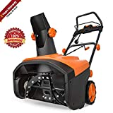 TACKLIFE Snow Blower, 15 Amp Electric Snow Thrower, 20 Inch, 4-Blade Steel Auger, 800lbs of Snow per min, 180° Rotatable Chute Throws Snow up to 30ft, 60°/90° Snow Outlet, 3000RPM, Overload Protector