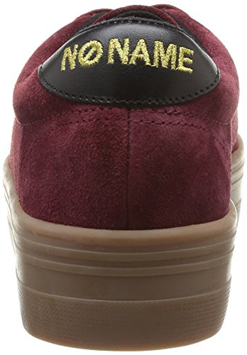 No mode Plato femme Split Name Sneaker Baskets Burgundy Rouge B1rnXBq5