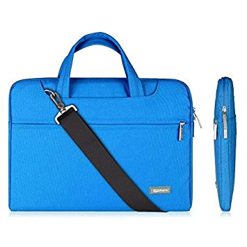 Qishare 13.3-14 Pulgadas Multifuncional portátil Hombro Bolsa maletín portátil de Ordenador portátil Caso Portador de la Ordenador portátil Messenger ...