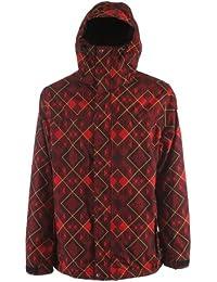 Rad Plaid Snowboard Jacket Red Mens