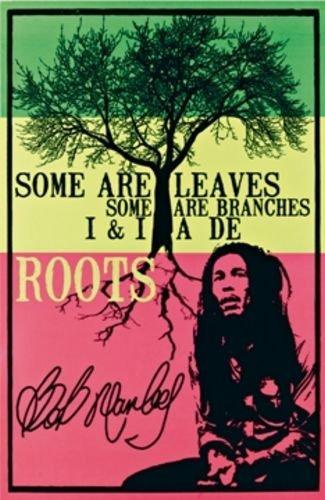 "Bob Marley Blacklight Poster - Roots 24""x36"" Art Print Poster"